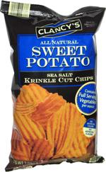 Clancy's All Natural Sweet Potato Sea Salt Krinkle Cut Chips