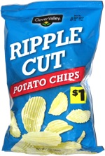 Clover Valley Ripple Cut Potato Chips