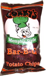 Corky's Memphis Style Bar-B-Q Flavored Potato Chips