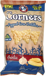 Corners Popped Corn Tortillas Garlic