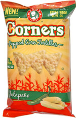Corners Popped Corn Tortillas Jalapeno