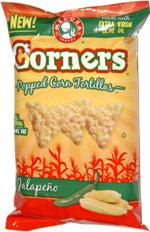 Corners Popped Corn Tortillas Jalapeno