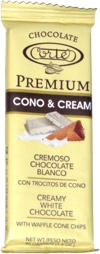 Premium Cono & Cream Creamy White Chocolate with Waffle Cone Chips
