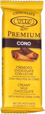 Premium Cono Creamy Milk Chocolate with Waffle Cone Chips