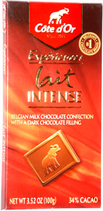 Côte d'Or Expériences Lait Intense Belgian Milk Chocolate Confection with a Dark Chocolate Filling