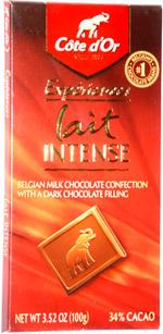 Côte d'Or Expériences Lait Intense Belgian Milk Chocolate Confection with a Dark Chocolate Filling