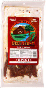 Buffalo Bills Country Cut Beef Jerky Spicy