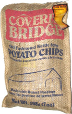Covered Bridge Old Fashioned Kettle Style Potato Chips Sea Salt