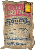 Covered Bridge Old Fashioned Kettle Style Potato Chips Sea Salt & Vinegar