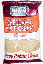 Crackin' Good Cheddar & Sour Cream Wavy Potato Chips