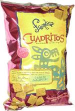 Frontera Cuadritos Bite-Size Tortilla Chips Garlic Jalapeño