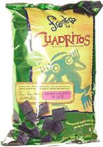 Frontera Cuadritos Bite-Size Tortilla Chips Stone Ground Blue