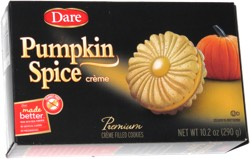 Dare Pumpkin Spice Premium Cr 232 Me Filled Cookies
