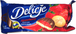 Delicje Strawberry European Biscuits