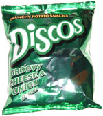 Discos Groovy Cheese & Onion Crunchy Potato Snacks