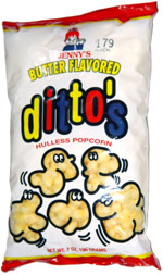 Jenny's Butter Flavored Ditto's Hulless Popcorn