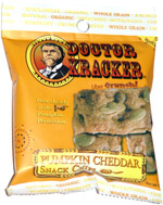 Doctor Kracker Pumpkin Cheddar Snack Chips