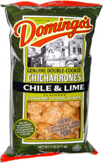 Domingo's Genuine Double-Cooked Chicharrones Chile & Lime