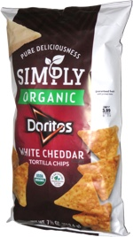 Simply Organic Doritos White Cheddar Tortilla Chips