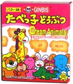 Ginbis Dream Animals Butter Flavored Biscuits