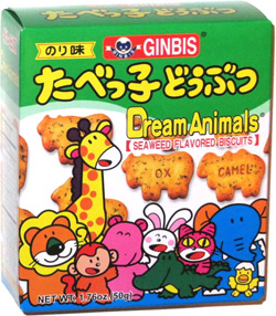 Ginbis Dream Animals Seaweed Flavored Biscuits