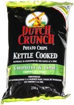 Dutch Crunch Potato Chips Kettle Cooked Chipotle & Lime