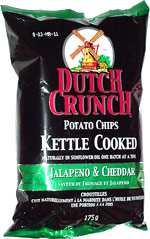 Dutch Crunch Potato Chips Kettle Cooked Jalapeno & Cheddar