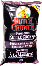 Dutch Crunch Potato Chips Kettle Cooked Parmesan  Garlic