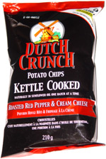 Dutch Crunch Potato Chips Kettle Cooked Roasted Red Pepper & Cream Cheese Chips