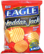 Eagle Cheddar Jack Thick & Wavy Potato Chips