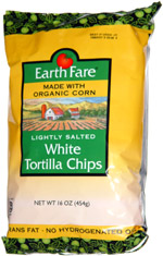 Earth Fare Lightly Salted White Tortilla Chips