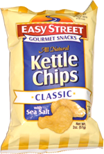 Easy Street Gourmet Snacks Kettle Chips Classic with Sea Salt
