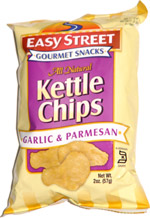 Easy Street Gourmet Snacks Kettle Chips Garlic & Parmesan
