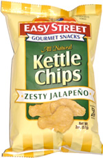 Easy Street Gourmet Snacks Kettle Chips Zesty Jalapeño