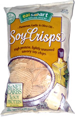 Eat Smart Parmesan Garlic & Olive Oil Soy Crisps
