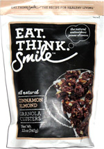 Eat. Think. Smile Cinnamon Almond Granola Clusters