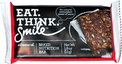 Eat. Think. Smile Dark Cherry Baked Nutrition Bar