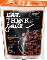 Eat. Think. Smile Sweet Cinnamon Crispy Thins