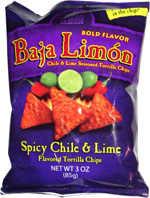 El Sabroso Baja Limón Chile & Lime Seasoned Tortilla Chips