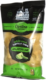 El Sabroso Homestyle Cantina Especial White Corn Tortilla Chips Jalapeño Lime