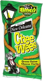 Elmer's New Orleans Chee Wees Green Onion Cheese Curls
