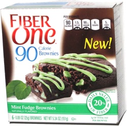 Fiber One 90 Calories Mint Fudge Brownies