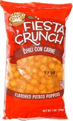 Fiesta Crunch Chili Con Carne Flavored Potato Poppers