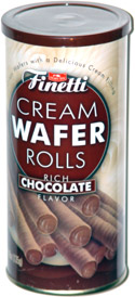 Finetti Cream Wafer Rolls Rich Chocolate Flavor