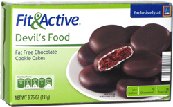 Fit & Active Devil's Food Fat Free Chocolate Cookie Cakes