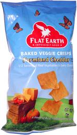 Flat Earth Baked Veggie Crisps Farmland Cheddar