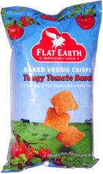 Flat Earth Baked Veggie Crisps Tangy Tomato Ranch