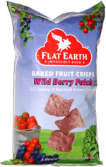 Flat Earth Baked Veggie Crisps Wild Berry Patch