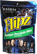 X-Men Flipz Mystique Chocolate Mint Covered Pretzels