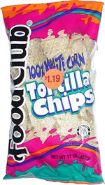 Food Club 100% White Corn Tortilla Chips